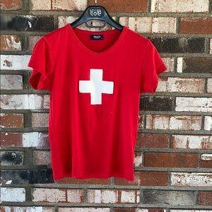 WOMENS Switzerland shirt Size Medium🇨🇭❤️